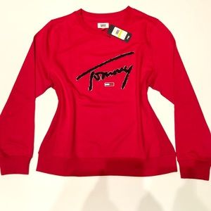 NEW Tommy Hilfiger Red Vintage Sweater